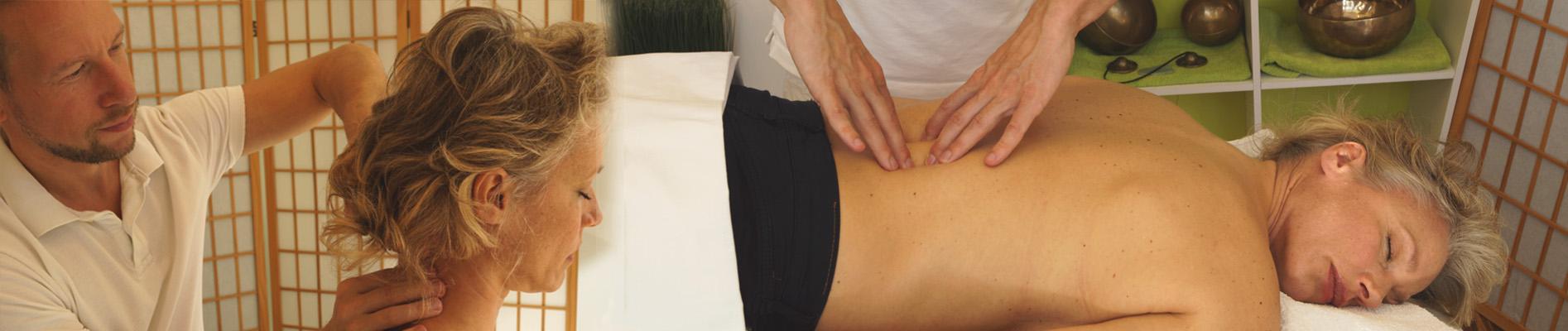Nackenmassage Rückenmassage